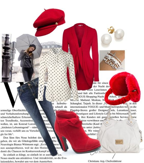 """White & Red"" by gege55555 ❤ liked on Polyvore"