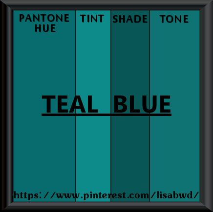 PANTONE SEASONAL COLOR SWATCH TEAL BLUE
