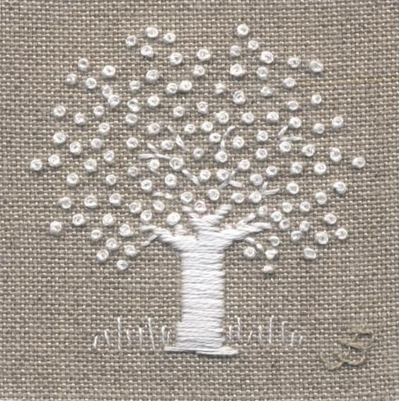 Jo Butcher, Embroidery Artist - White Tree
