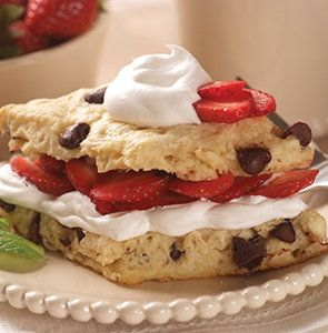 Recipe for Chocolate Chip Strawberry Shortcake