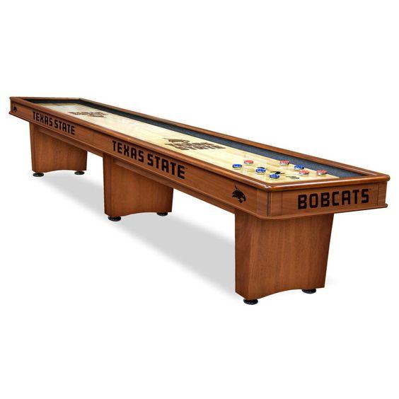 Texas State Bobcats Shuffleboard Game Table