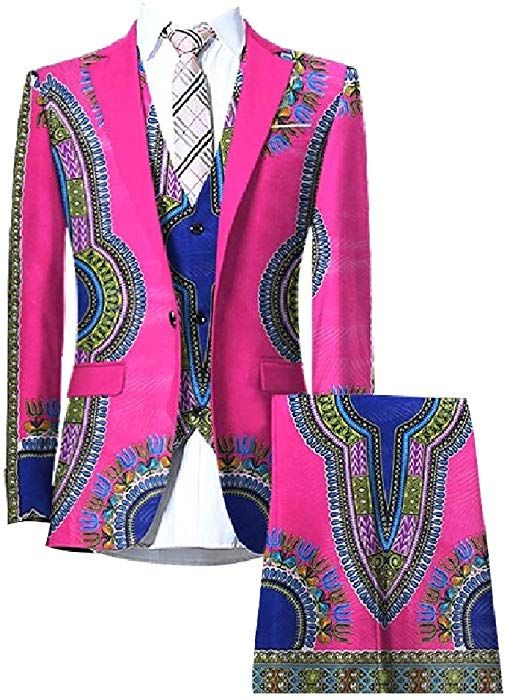 CuteRose Mens One Button Checkered Lapel Slim Fitted Premium Select Blazer Coats
