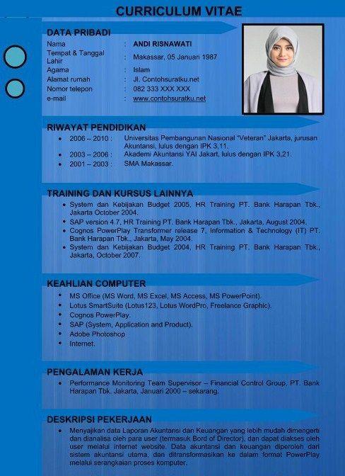 Format Resume Yang Menarik Resume Format Cv Kreatif Desain Resume Desain Cv