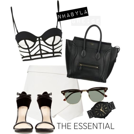 """BLACK AND WHITE"" by nhabyg on Polyvore"