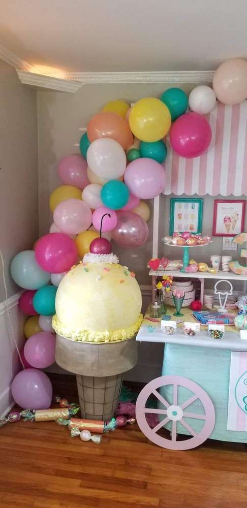 Ice Cream Birthday Party Ideas With Images