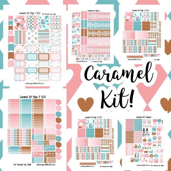 FREE Caramel Valentine KIT! | Free Printable Planner Stickers ...