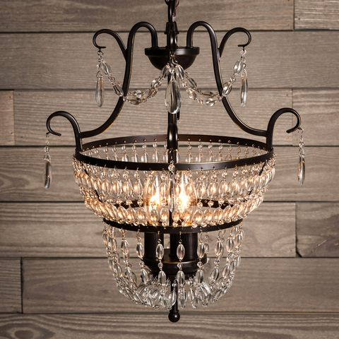 Shop Quoizel Trista 13 6 In 3 Light Oil Rubbed Bronze Crystal Cage