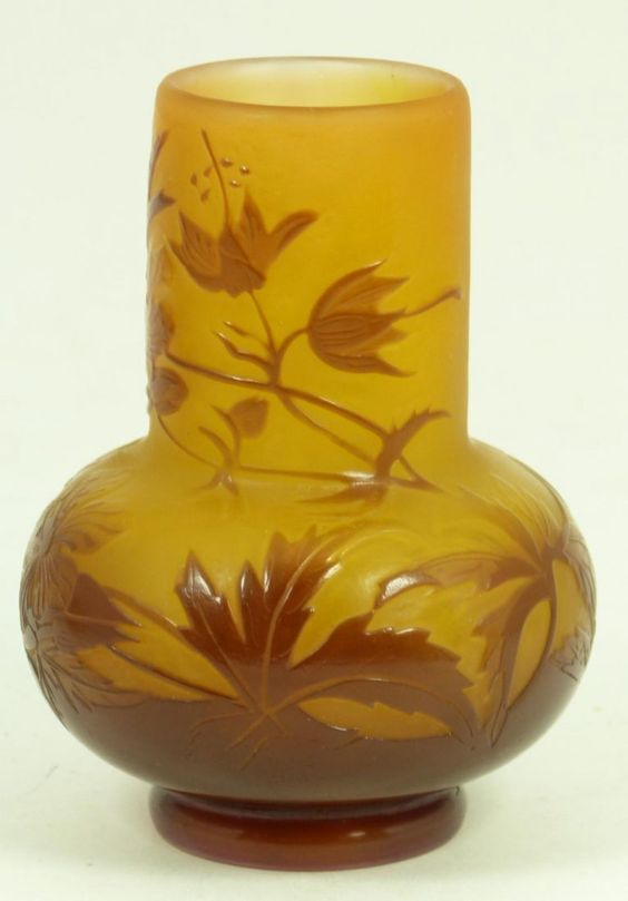 Galle Cabinet Vase - Galle is a French Glass Maker - Art Nouveau Movement