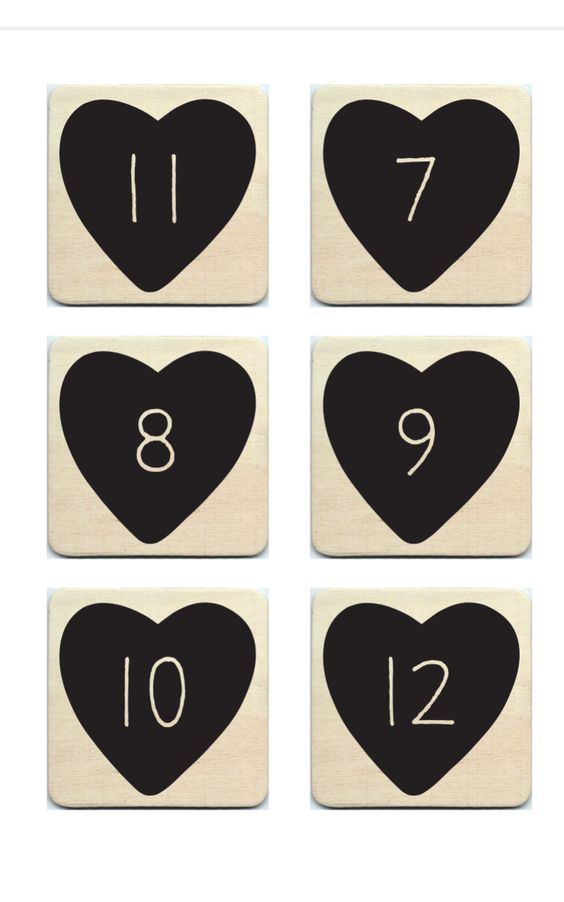 Hand screened table numbers on wood