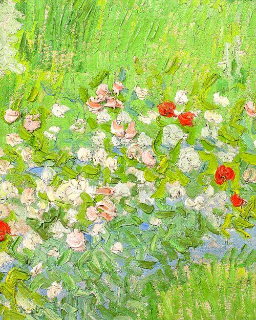 Vincent van Gogh - Daubigny's Garden (detail).