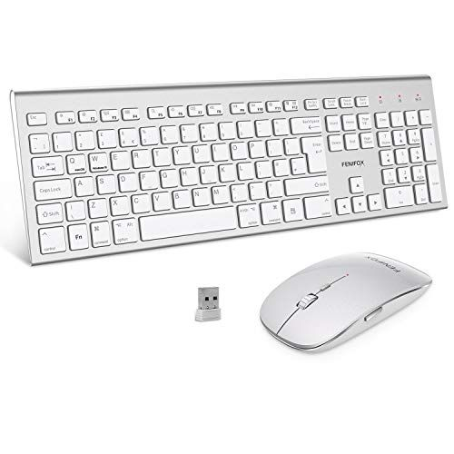Fenifox Wireless Keyboard Mouse Dual System Switching Double Ergonomic 2 4g Usb Qwerty Full Size Uk Layout For C In 2020 Imac Laptop Laptop Windows Desktop Computers