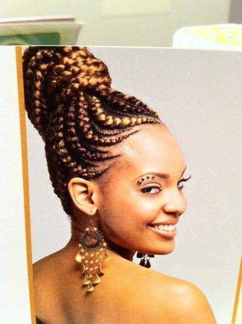 African Braid Hair Styles African Goddess Braids Bike