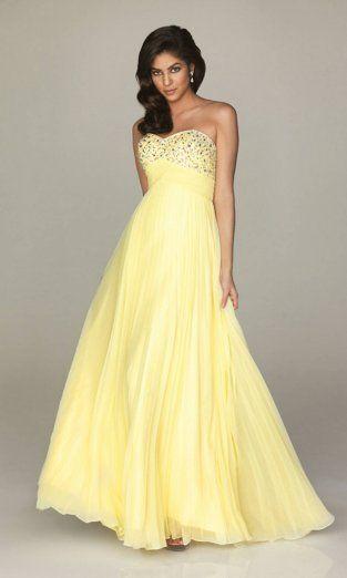 Yellow Prom Dresses 2014 | Dresses | Pinterest | 프롬 드레스 ...