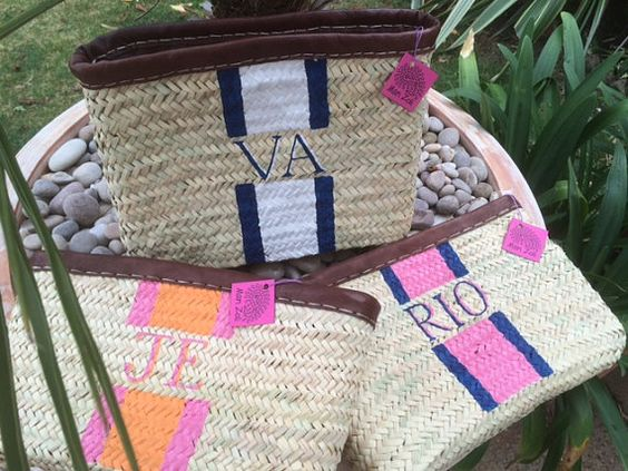 MONOGRAM Stripe Clutch Bag Personalise with your by MariZoli