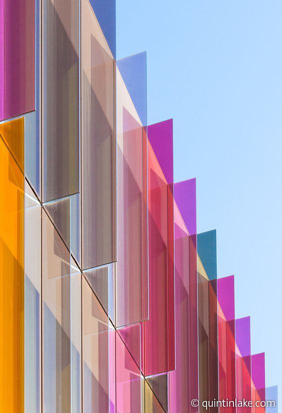 Coloured Glass At University Of Oxford Biochemistry Building By Hawkins Brown Colour Architecture Facade Architecture Glass Building