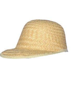 Gorra con visera larga de paja