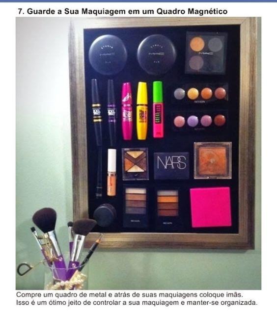 Maquiagem em painel de ima