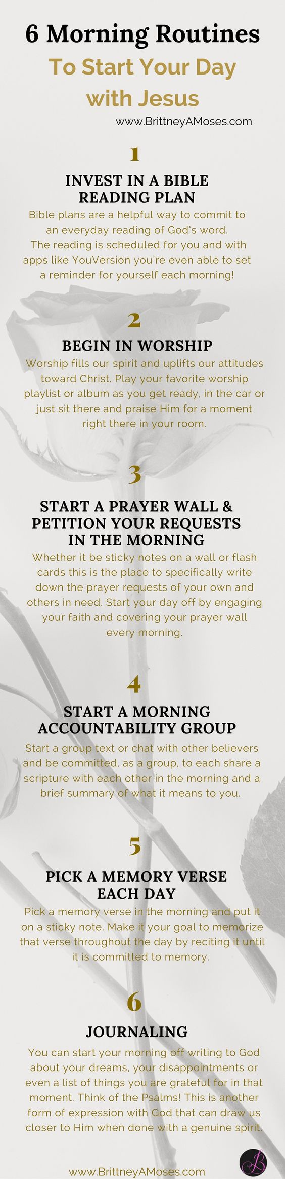 """READ: """"10 Morning Routines to Start Your Day with Jesus"""" -Brittney Moses"""