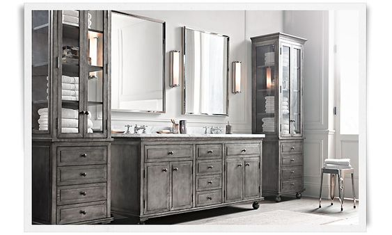 Pinterest the world s catalog of ideas - Restoration hardware bathroom cabinets ...