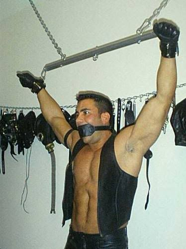 Yet another bound leather hunk