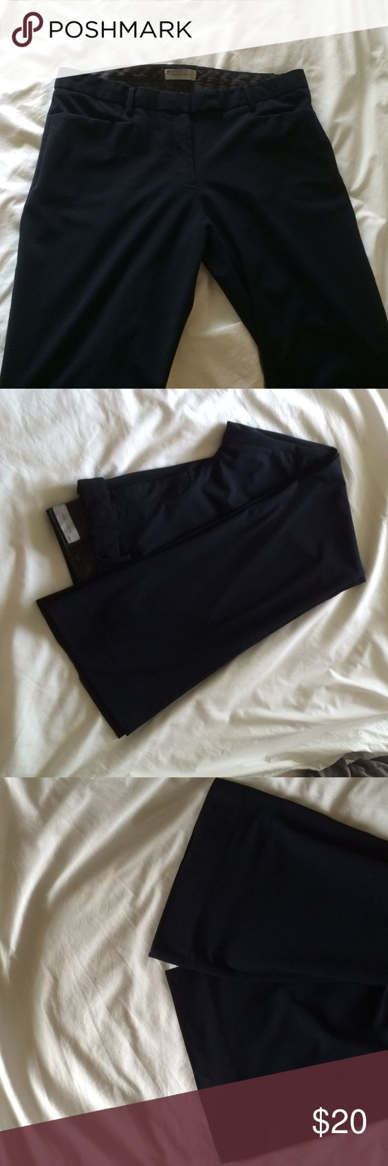GAP Modern Boot Pant Navy 14R Gently Worn These pants are perfect for work.  They come out of the dryer ready to wear.  They are so easy!   Gently worn.  A little wear on bottom but other than that they are perfect.  They no longer fit me. Gap Pants Boot Cut & Flare