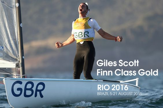 Giles Scott sealed gold in sailing's Finn class to give Great Britain their fifth successive Olympic title in the event.
