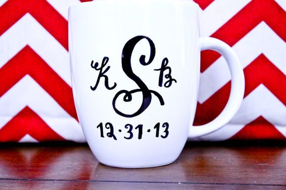 adorable monogrammed mug w/quote!