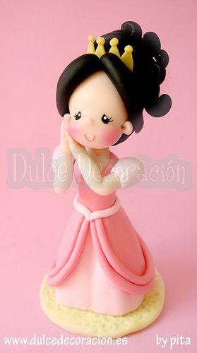 Muñeca princesa personalizada Andrea | por Dulce decoración (modelado - tartas decoradas)