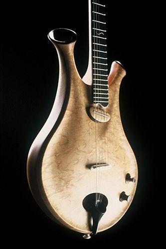 Zyra Guitar (détail), par Thierry André Luthier