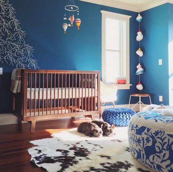cerulean blue nursery | sonya yu