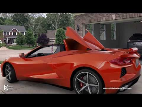 After Doing An Amazing Virtual Walk Around Of The C8 2020 Corvette Coupe In His Driveway Chazcron Is Back With A Corvette Convertible Corvette Chevy Corvette