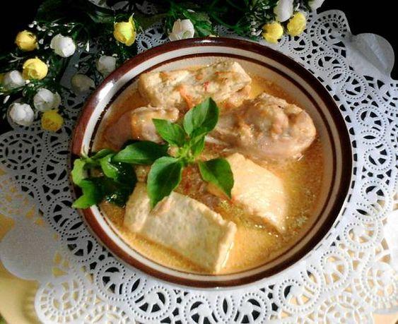 Resep Ayam Tahu Kuah Santan Oleh Ny Indra Resep Makanan Resep Ayam Resep Masakan