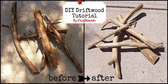 DIY Driftwood Tutorial by Craftiments.com  WOOT! Finally!!!
