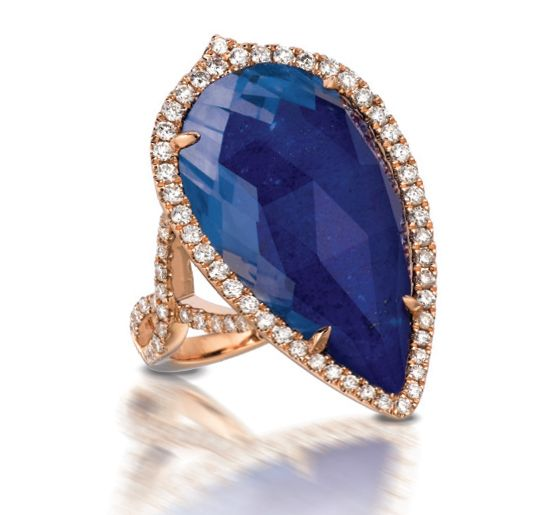 Doves Jewelry royal blue lapis lazuli ring: