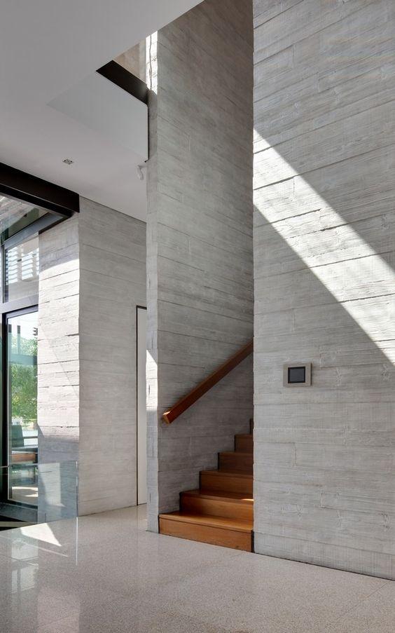 Un excelente espacio #minimalista con texturas se pinta con el sol ...