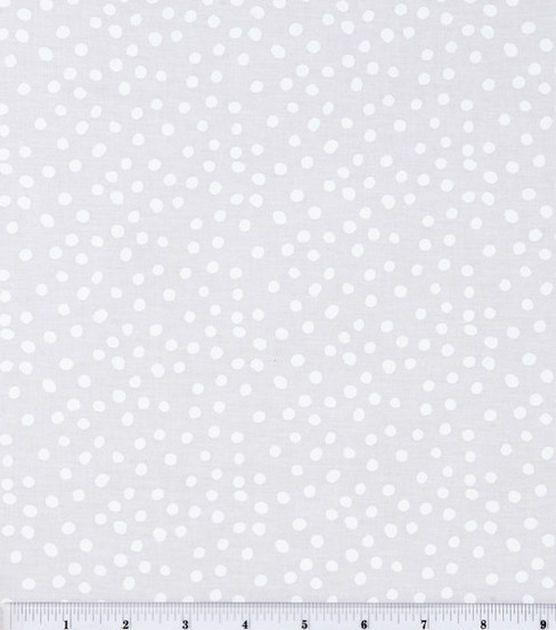 Keepsake Calico Cotton Fabric Irregular White Dots On