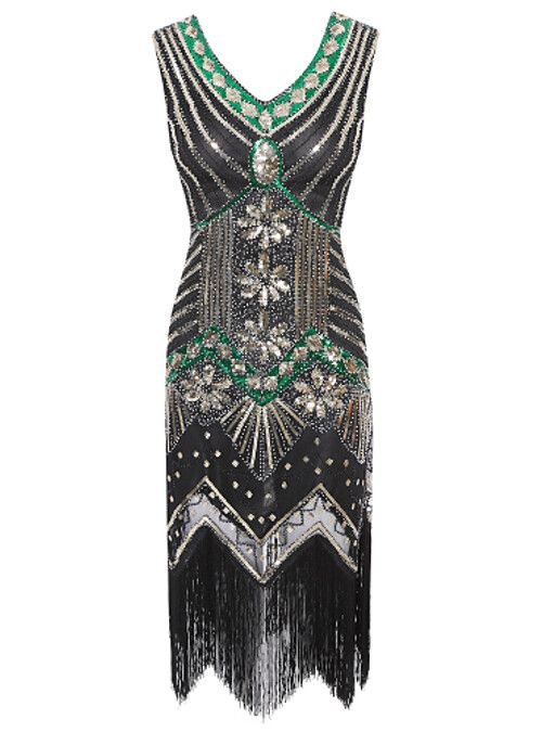 Gatsby 1920s Flapper Dress Vintage Clubwear Sequined Party Costume Evening Gowns