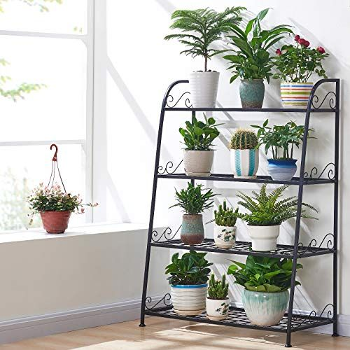 Home Metal Plant Stand Display Shelf Garden Decor Flower Pot Storage Rack Holder
