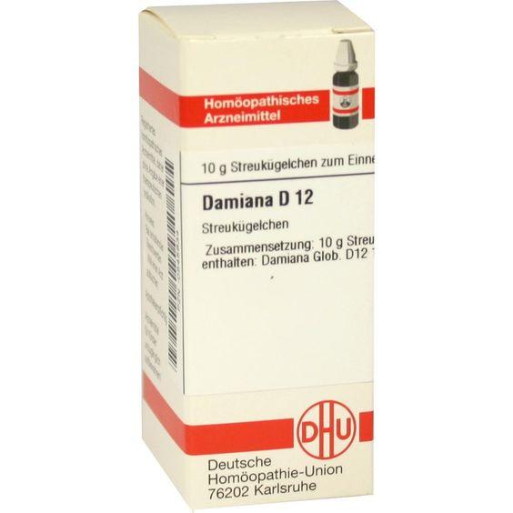 DAMIANA D 12 Globuli:   Packungsinhalt: 10 g Globuli PZN: 00545834 Hersteller: DHU-Arzneimittel GmbH & Co. KG Preis: 5,19 EUR inkl. 19 %…