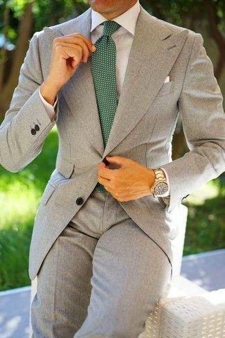 Como Combinar Un Traje Gris 592 Looks De Moda Moda Para Hombres Lookastic Mex Trajes Grises Hombre Convinaciones De Ropa Hombre Combinacion De Traje Gris