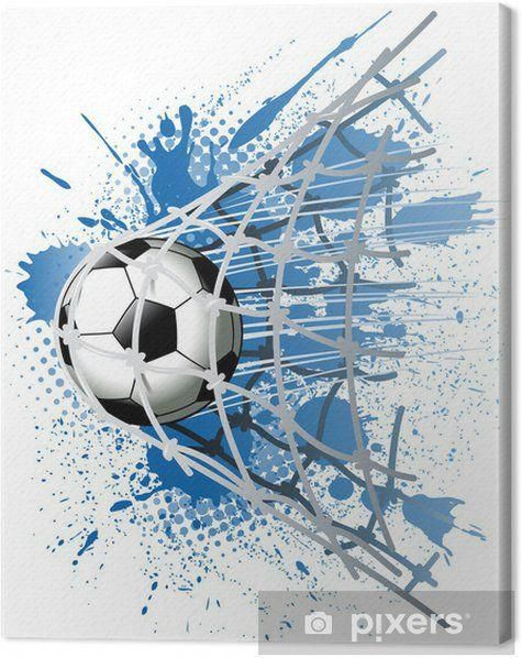 Goal Canvas Print Pixers We Live To Change In 2020 Soccer Art Football Art Soccer Drawing