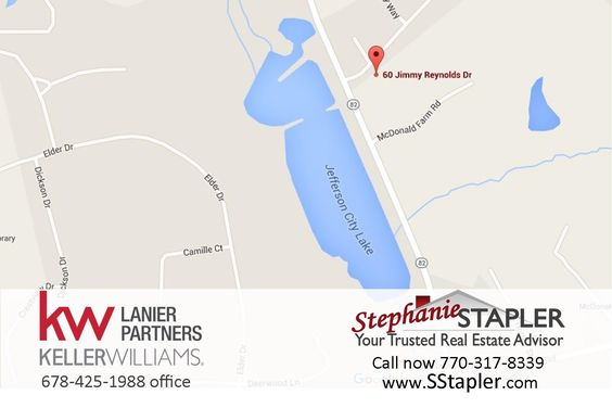 FOR SALE .50 Acre Residential Lot - City Limits of Jefferson - Ready to Build! Marketed by Stephanie Stapler, Realtor / Associate Broker with Keller Williams Realty Lanier Partners www.SStapler.com #RealEstate #StephanieStapler #ResidentialLot #LotForSale #JeffersonGA