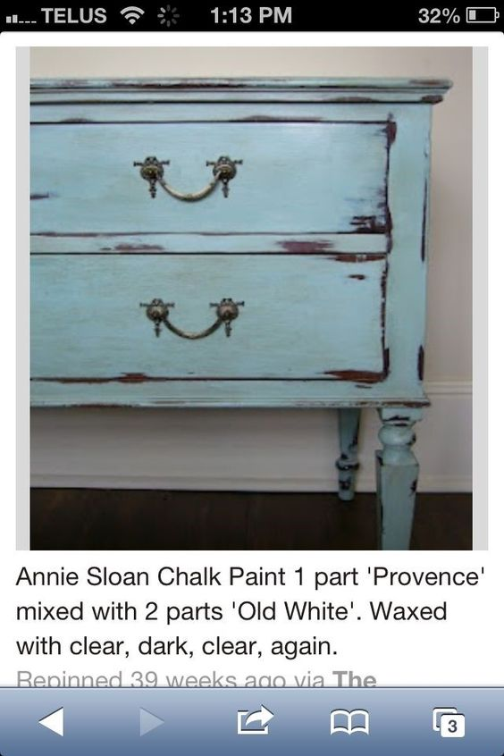 Provence Mixed With Old White Chalk Paint Chalk Paint