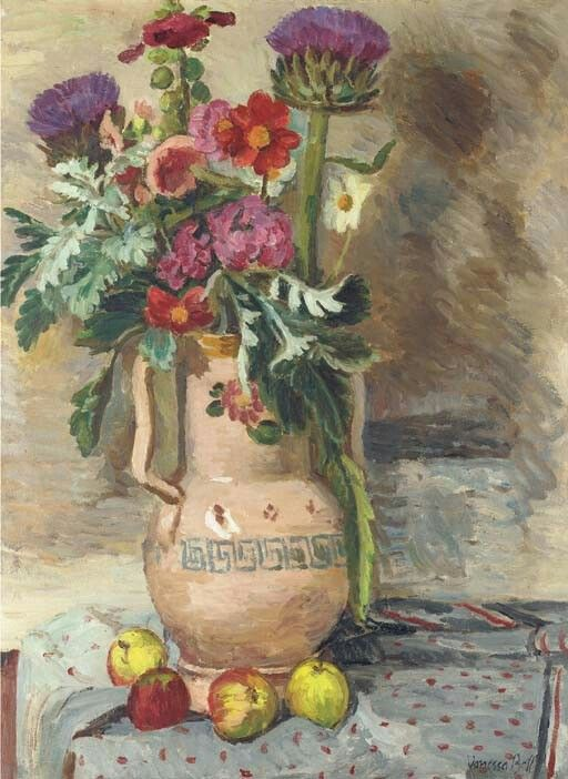 Flowers and thistles, Vanessa Bell. (1879 - 1961)