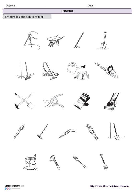 Une petite activit de logique pour d terminer les outils for Outil de jardinage p