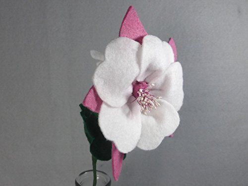 Pink and White Columbine Made of Felt - Pink Flower - Artificial Flower on a Stem - Felt Flower - Fake Flower - Colorado Columbine - Fake Columbine. This is a beautiful flower made of felt that lasts forever! It looks great in a vase by itself or as part of a bouquet. The stem is made of a floral wire, so it is stable but bendable. Price is for ONE flower. If you want another color, please check my shop. If you don't see the color you want there, please message me. I have many different...