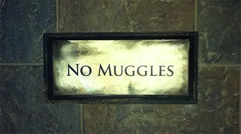 "Build a fort and place a ""No Muggles Allowed"" sign before the entrance!"