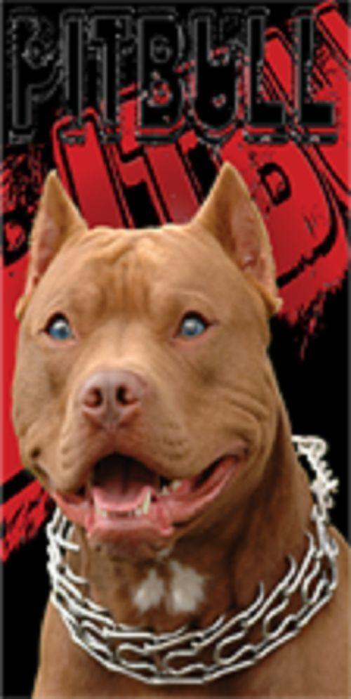 Pitbull Breed Red Nose Puppy Dog Love Pride Bath Pool Beach Towel
