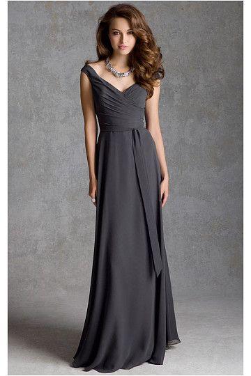 Long Natural Floor-length Sleeveless Bridesmaid Dresses