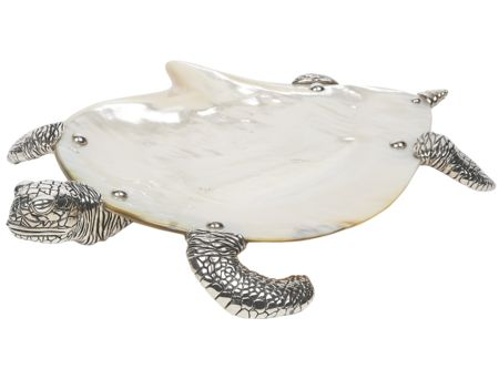 Katharine Pooley mother-of-pearl Turtle plate